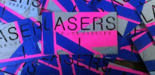 Lasers over Los Angeles lasercut business cards
