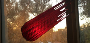 "Red Comet Sunset – 3/4"" Laser cut acrylic"